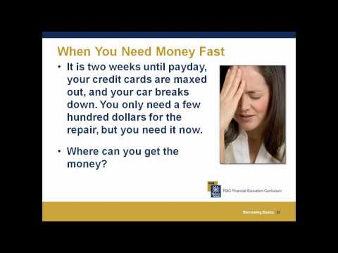 Borrowing Basics – Community Credit Counselors, Inc.