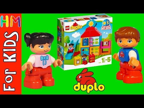 LEGO DUPLO My First Playhouse night/day set 10616 - toy review VIDEO FOR KIDS