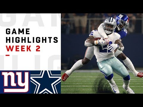 Giants vs. Cowboys Week 2 Highlights | NFL 2018 (видео)