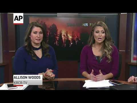 TV Station Evacuates From Northern Calif. Fire
