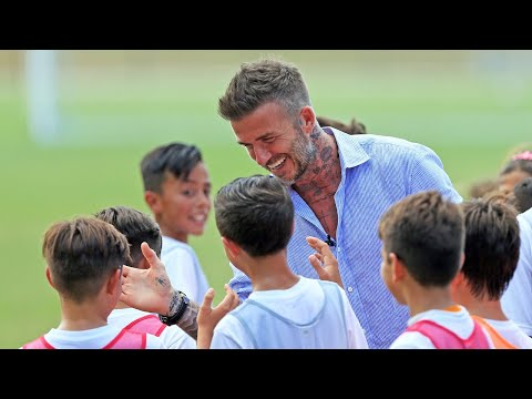 David Beckham Visited His Inter Miami Youth Academy