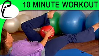 10-Minute Pilates Workout on the Small Ball; Beginner/Intermediate Level