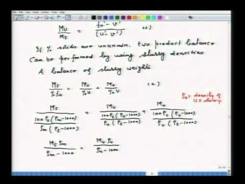 Mod-01 Lec-11 Materials Balance in Mineral Processing and Faq