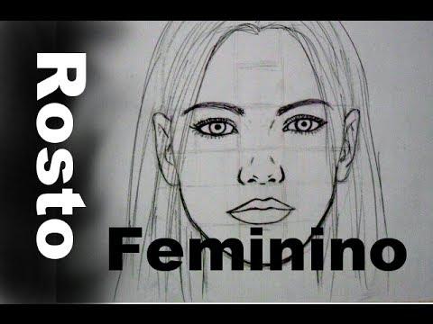 Rosto Feminino Frontal