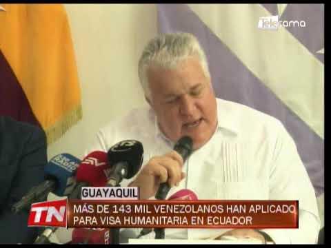 Más de 143 mil venezolanos han aplicado para visa humanitaria en Ecuador