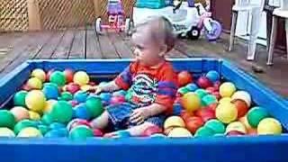 Josiah in Ball Pit