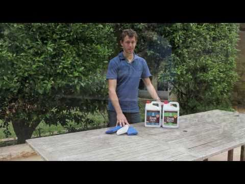 teak - A short demonstration of how to clean teak using our 2 part teak cleaning system on old teak table. The same system is designed for how to clean marine teak ...