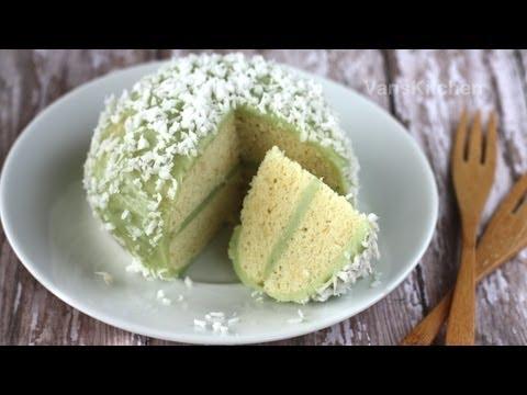 Vietnamese Mount Fuji Sponge Cake with Coconut Cream Recipe – (Bánh bông lan Phú Sĩ)