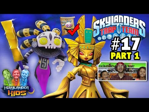 Lets Play Skylanders Trap Team: Chapter 17 - Lair of the Golden Queen w/ Bad Juju (pt. 1)
