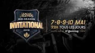 Finale LCK et Mid Season Invitational sur O'Gaming TV
