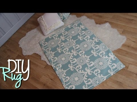 RUG - Click Like & Subscribe? ♥ Sometimes we like to change up our room theme but rugs can cost a fortune. This tutorial shows you how to turn affordable fabric in...