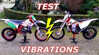 3. KTM 250 exc six days 2017 VS 300 exc six days 2012 - Test Vibrations