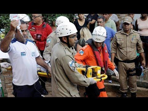Νεκροί και τραυματίες από κατάρρευση κτιρίων στο Ρίο Ντε Τζανέιρο…