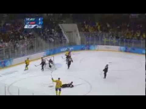 Alexander Edler Goal – Sweden v Latvia – 2014 Hockey Olympics