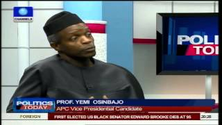 Nigerians Are Fed Up But APC 'Will' Bring Change - Osinbajo Pt3