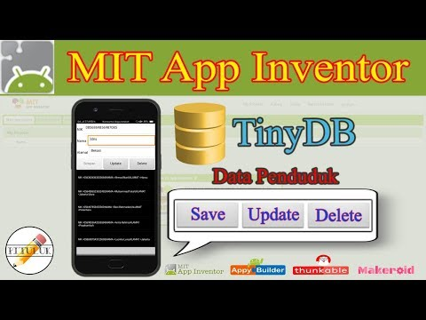 Save, Update & Delete TinyDB To Listview  MIT App Inventor