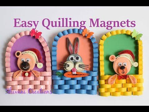 Quilling Fridge Magnet/ How to make Fridge Magnets