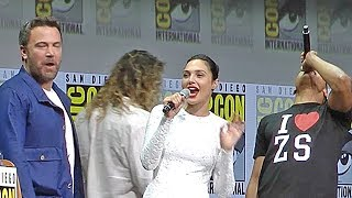 Jason Momoa (Aquaman) just saw the Justice League trailer at ComicCon Hall H and loved it! And smashed a chair! And what ...