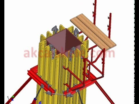 AKCA Scaffolding - Column formwork type - installation connection details