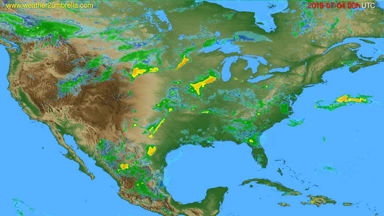 Radar forecast USA & Canada // modelrun: 12h UTC 2019-07-03