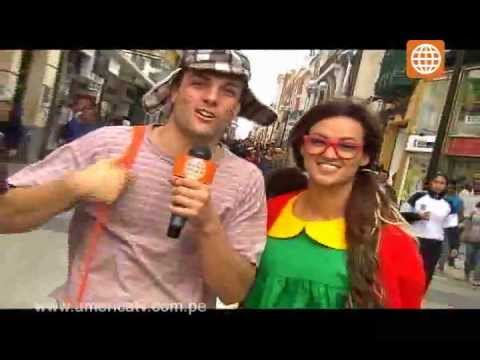 Esto es Guerra: Reto en la calle de Angie y Nicola (Chavo y Chilindrina) - 15/08/2012