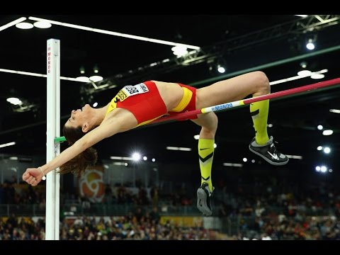Ruth Beitia 196 cm. ( Silver medal. World indoor championship Portland 2016 )