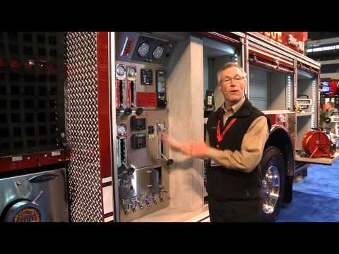 Morehead City - Tom Smits gives you a tour of one of the Pierce Velocity with a forward roof option at FDIC 2013.