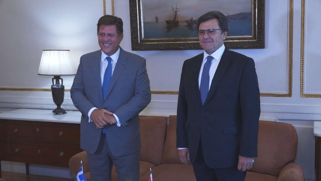 Συνάντηση Μ. Βαρβιτσιώτη με τον επικεφαλής της Αλβανικής Διαπραγματευτικής Ομάδας, Πρέσβυ Ζef Mazi