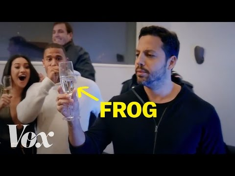 How David Blaine barfs frogs.
