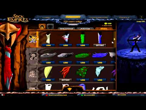 the complete stick empires armory back in the game stick