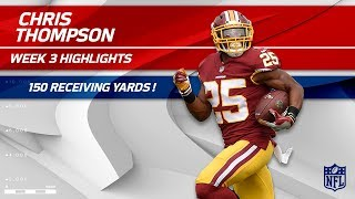 From RB to WR: Chris Thompson's 150 Receiving Yards! | Raiders vs. Redskins | Wk 3 Player Highlights by NFL