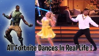 ALL FORTNITE DANCES IN REAL LIFE! (Best Mates, Take The L etc.) *NEW 2018*