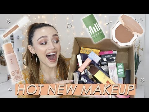 HUGE SEPHORA HAUL + FIRST IMPRESSIONS | trying on new makeup
