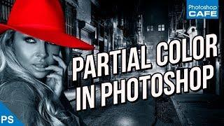 COLOR SPLASH! partial color in Photoshop tutorial
