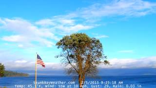 Slow Motion Time Lapse of Rain Shadow 2/5/13