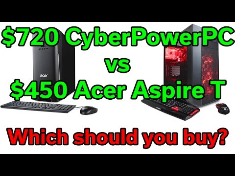 Which Desktop PC Should you buy - Acer Aspire vs CyberPowerPC