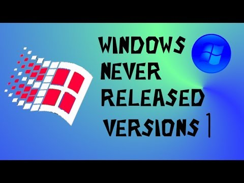 WINDOWS NEVER RELEASED VERSIONS 1