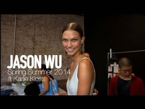 Jason Wu - http://mod-tv.com JASON WU Spring 2014 Backstage with Karlie Kloss and Jourdan Dunn. Supermodel Karlie Kloss gives us an exclusive look backstage at Jason Wu...