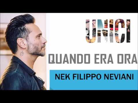 , title : 'Nek - Quando era ora - UNICI 2016 (TESTO)'