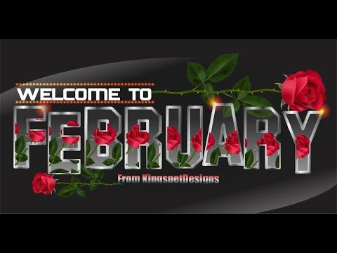 CorelDraw Glass Effect - Welcome To February Background Design - KingspetDesigns