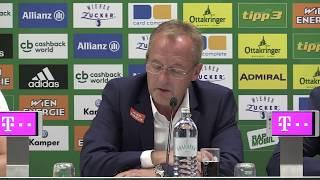 Aufzeichnung der Pressekonferenz vor dem ersten Bundesligaheimspiel der Saison 2017/18 aus dem Allianz Stadion.