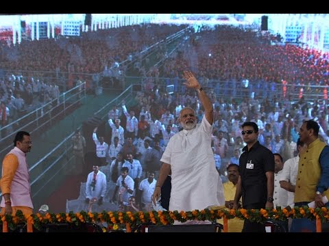 PM Modi at inauguration of SUMUL Cattle Feed Plant in Tapi District, Gujarat