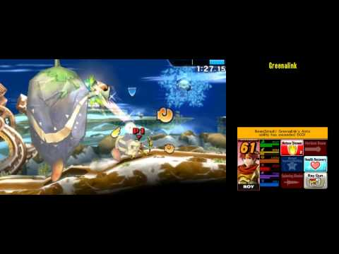 Roy FE [239354] Super Smash Bros 4 3DS Smash Run 200,000+ Score run