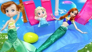 Video Disney Princess Frozen Anna Toddler Dolls Dress Up Mermaids Costume Swimming Pool Party! MP3, 3GP, MP4, WEBM, AVI, FLV November 2018