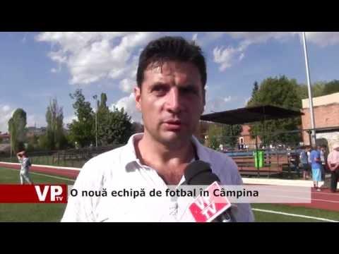 O nouă echipă de fotbal în Câmpina