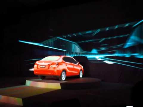 Mitsubishi Mirage G4 3D mapped video presentation.