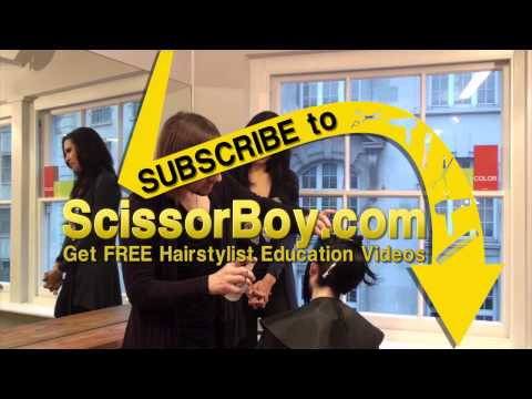 Haircut - Learn more trendy haircuts and cute hairstyles for women at http://www.scissorboy.com The bob haircut is very popular among women who have thick and straight...