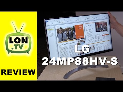 LG 24MP88HV-S Monitor - IPS Display With Super Thin Bezels