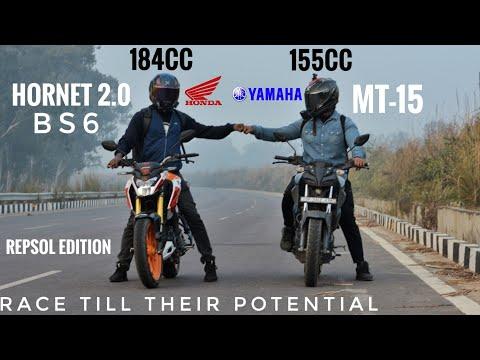 Honda Hornet 2.0 Bs6 (Repsol Edition) Vs Yamaha MT-15 | Race Till Their Potential | Top End