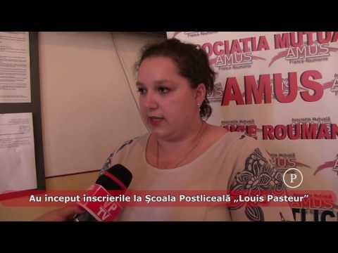 """Au început înscrierile la Şcoala Postliceală """"Louis Pasteur"""""""